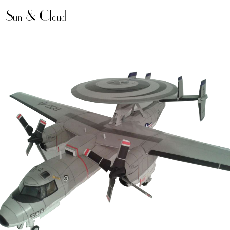 1 32 3D American Northrop Grumman E-2C Hawkeye Plane Aircraft Paper Model  Assemble Hand Work Puzzle Game DIY Kids Toy 9609057163c8
