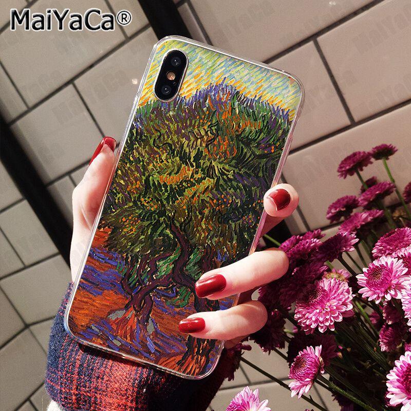 Чехол MaiYaCa для iphone 11 pro X 5S XR SE 8 plus 6 7 8 6s plus, чехол с изображением цветов и пейзажей, XS MAX(Китай)