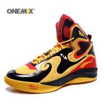 Мужские баскетбольные кроссовки Onemix, кожаные дышащие кроссовки с высоким берцем, в стиле пекинской оперы(Китай)