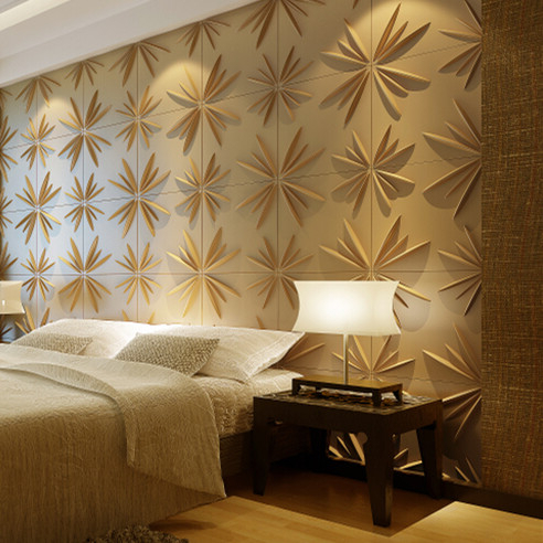 Embossed effect decorative calcium silicate board