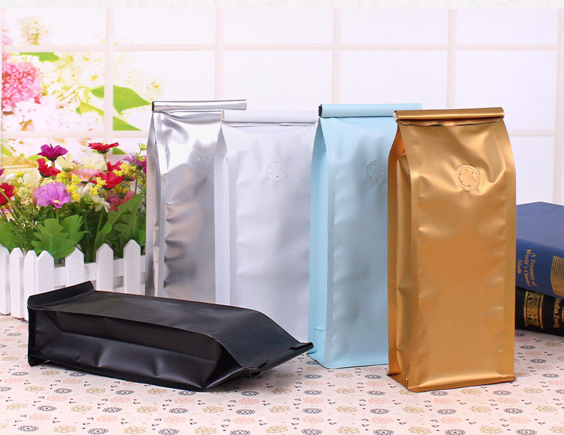 RY Custom Printed Pet Treat Food Packaging Aluminum Foil Bag Coffee Bag Stand Up Pouch Coffee Valve Bags