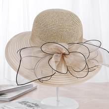 Новинка 2018, большие шляпы с широкими полями, органза, цветок, женские шляпы от солнца, Кентукки, Дерби, свадебное платье для вечеринки, дискет...(China)