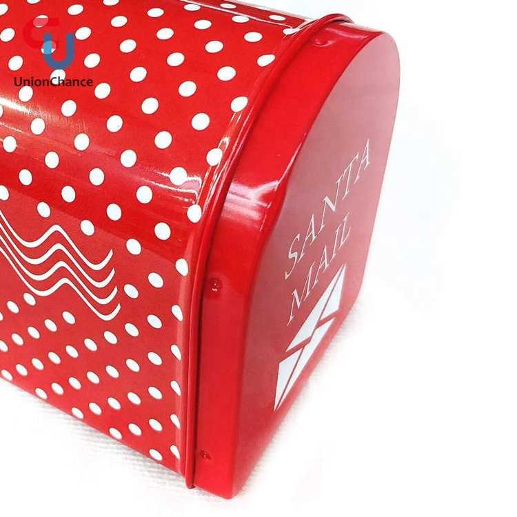 Рождественская тема белая точка Санта-почта коробка жестяная банка для еды жестяная банка