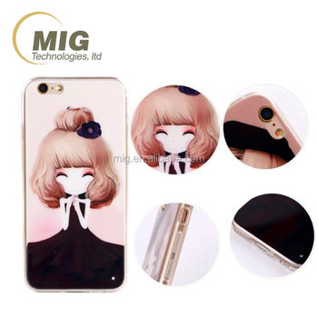 For iphone 6 case for mobile phone, cell phone cover for iphone 6 plus case, lovely cute sisters/ girls wear in beautiful dress