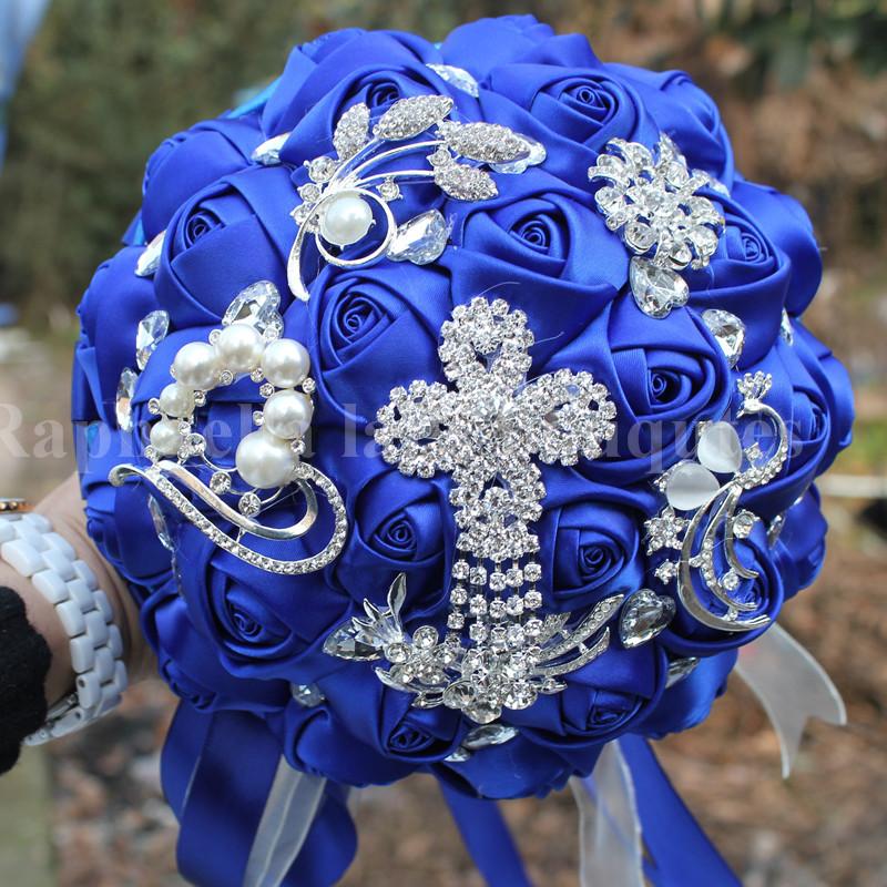 Royal Blue Wedding Bouquets Fashion