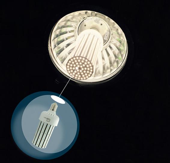 Metal Halide Bulb In Hps Fixture: E39 180W LED Corn Bulb Replace 400W Church High Bay