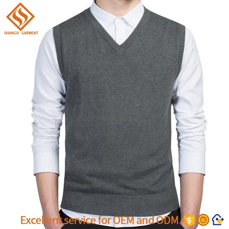 manufacturer provide custom logo 2017 autumn v neck sweater vest wholesale , mens v-neck sleeveless argyle sweater vest for men