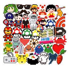 50 шт. мозаика Классическая игра серии Pixel стикер s для ноутбука скейтборда велосипеда мотоцикла DIY Водонепроницаемая игрушка наклейка F5(Китай)