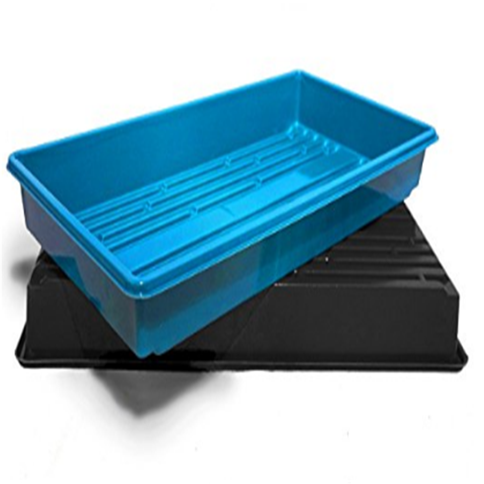 Seed starting plant propagation germmination , heavy duty 1020 extra strength tray without drain holes fodder system starter