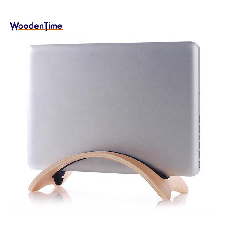 Универсальный Новый Дизайн Компактная Регулируемая деревянная портативная вертикальная подставка для ноутбука для MacBook