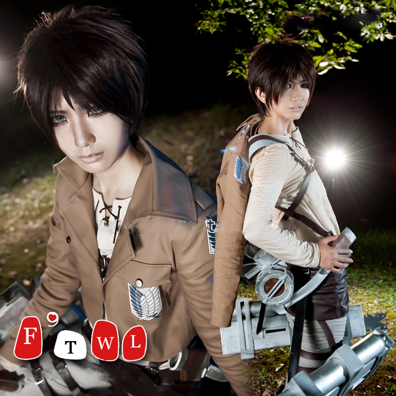 Aliexpress.com : Buy Attack on Titan Eren Jaeger Cosplay ...
