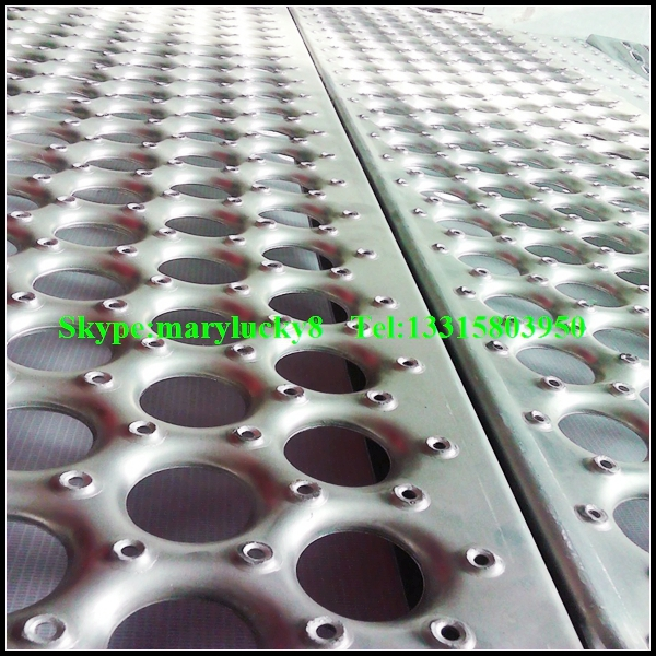 Extruded Hole Perforated Metal Sheet Dimpled Hole