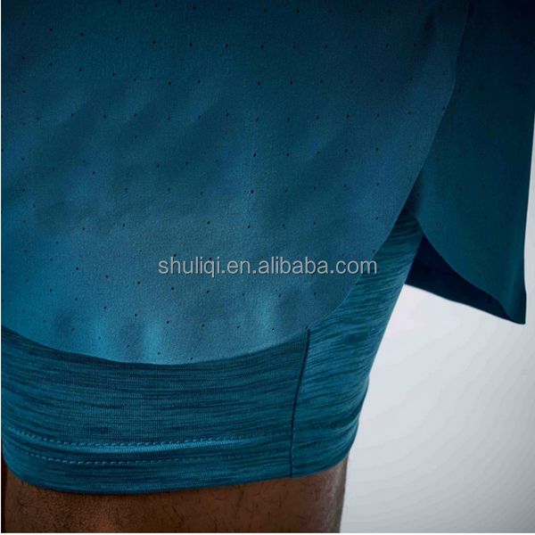 water-repellent Perforated running, jumping or lifting shorts Binary Blue; flex dry US Men's 8' two-in-shorts