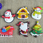 Christmas Fridge Christmas Pvc Keychain New Custom Christmas Pvc Fridge Magnet/christmas Pvc Keychain