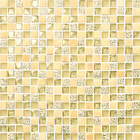 wholesale fashion design beige crystal glass mosaic 333x333 tiles