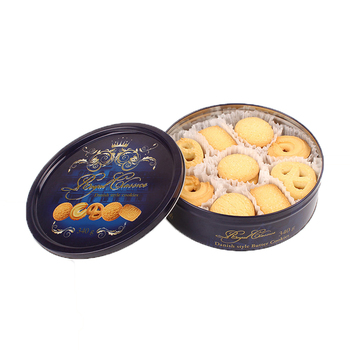 340g Wholesale Blue Tin Danish Butter Cookies Biscuit biscuit factory