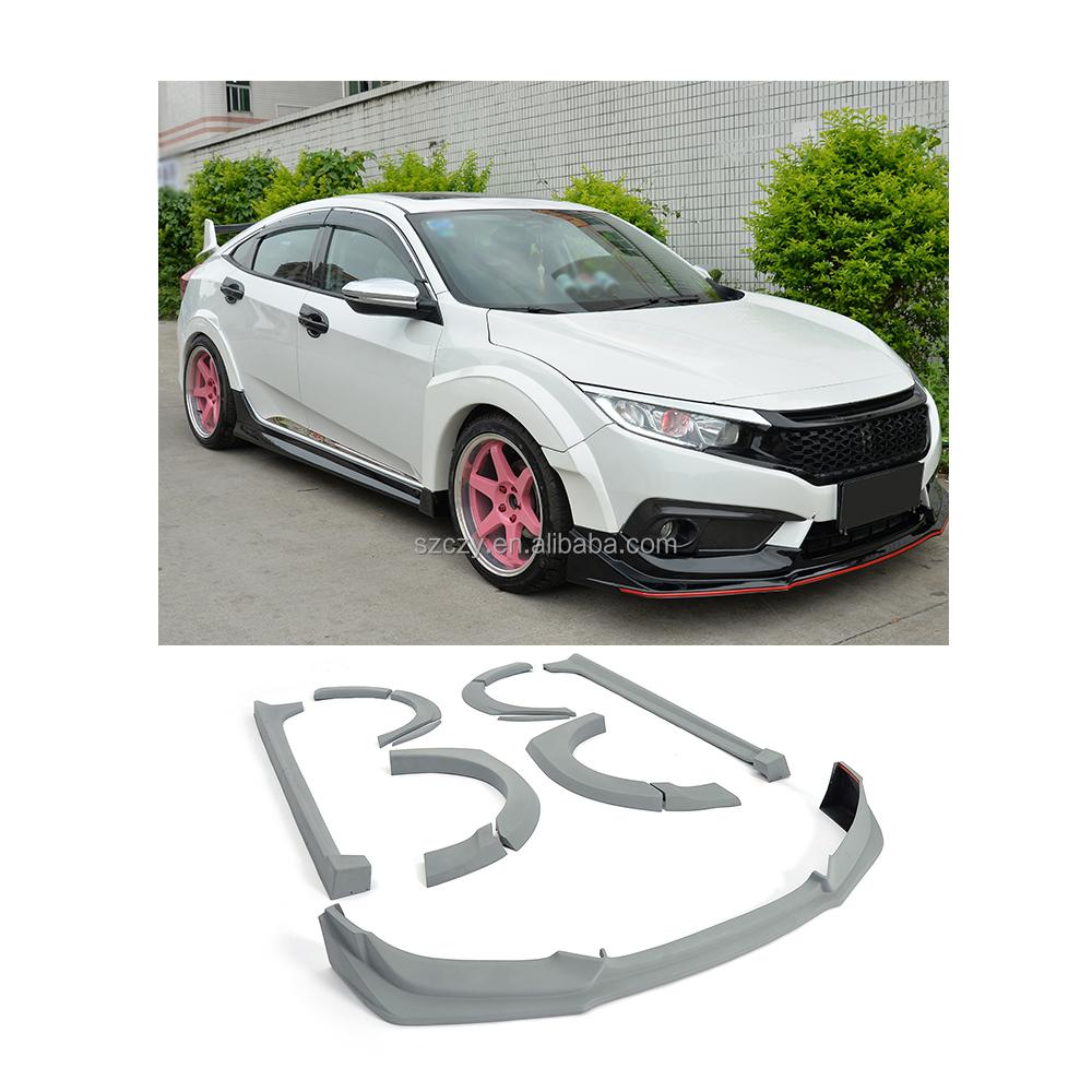 Car Custom Body Kits For Honda Civic 10th Sedan 2016 2017 Buy Body Kit For Honda Car Body Kit For Honda Civic Product On Alibaba Com