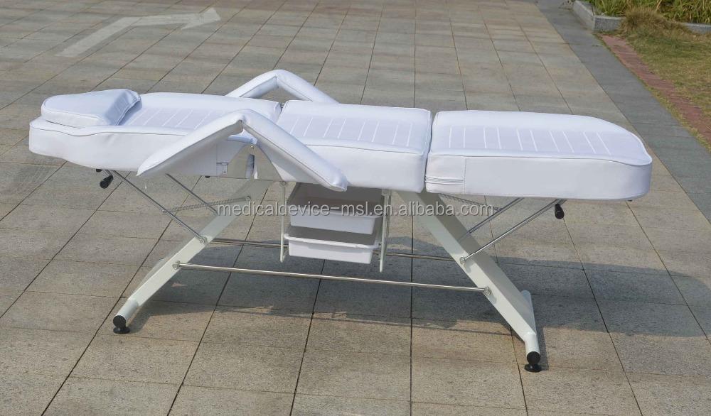 Полиуретановая/ПВХ кожаная кровать для салона красоты для массажа лица и тела по самой низкой цене для продажи-MSLMBA01