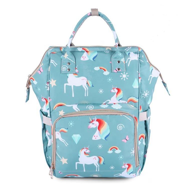 Fashion multifunctional Outdoor waterproof custom print designer backpack baby bag