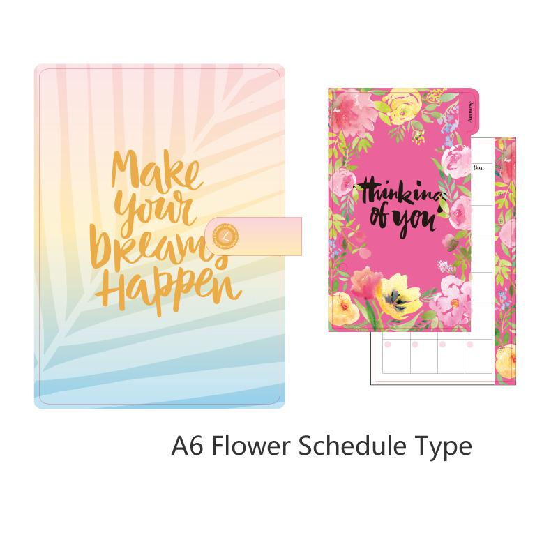 Lovedoki Mid Summer Leaves Spiral Notebook travelers journal Organizer A5 Planner 2020 креативный подарок Товары для офиса и школы(Китай)