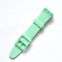 Многоцветные ремешки для часов из силиконовой резины 17 мм 19 мм для мужчин и женщин, ремешок для часов с пластиковой пряжкой черного, белого, ...(China)