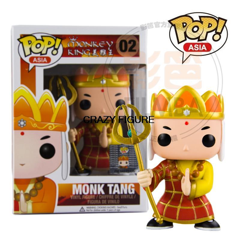 New Genuine funko pop asia MONKEY KING MONK TANG vinyl figure 3 75 inch vinyl figures