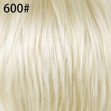 Элемент 6 дюймов короткий прямой синтетический парик смесь 50% человеческих волос Мягкие Гладкие термостойкие парики для женщин(Китай)
