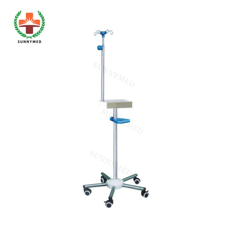 SY-R111 портативный подвесной мобильный ABS белая пластина ручка из нержавеющей стали инфузионная стойка