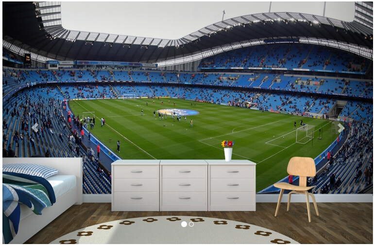 Custom 3 D Stereoscopic Wallpaper, Manchester City Etihad