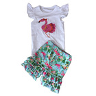 Clothes Swing Baby Girl Clothes Latest Clothes 2 Pieces Baby Girls Swing Top And Capris Sets Infant Newborn Girl Boutique Outfits With Ruffle