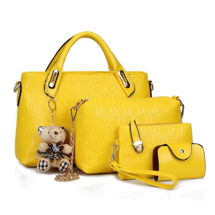 Sac A Main Bear Doll Pendant Sling Bag Women Elegant Handbags Wholesale Handbag Set