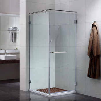 1950mm Australia Glass Square Smart Bathroom Pod Fitting Project Glass Shower Enclosure with Hinges