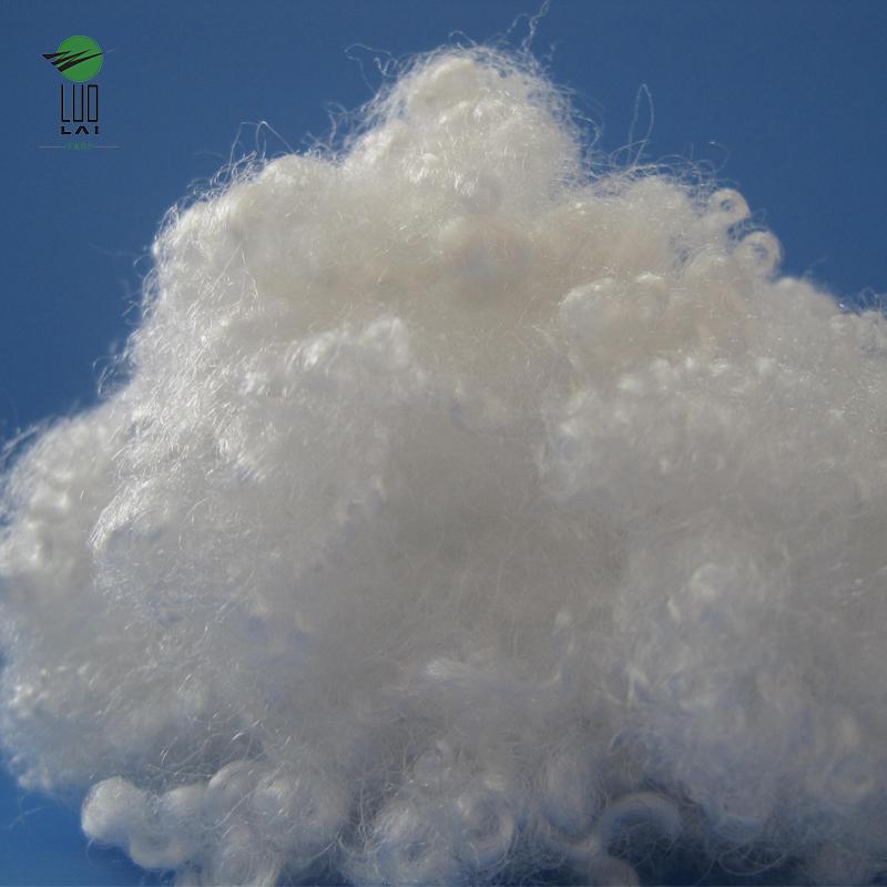 7D x 64 MM HCS recycled polyester fiber scrap bedding fiber