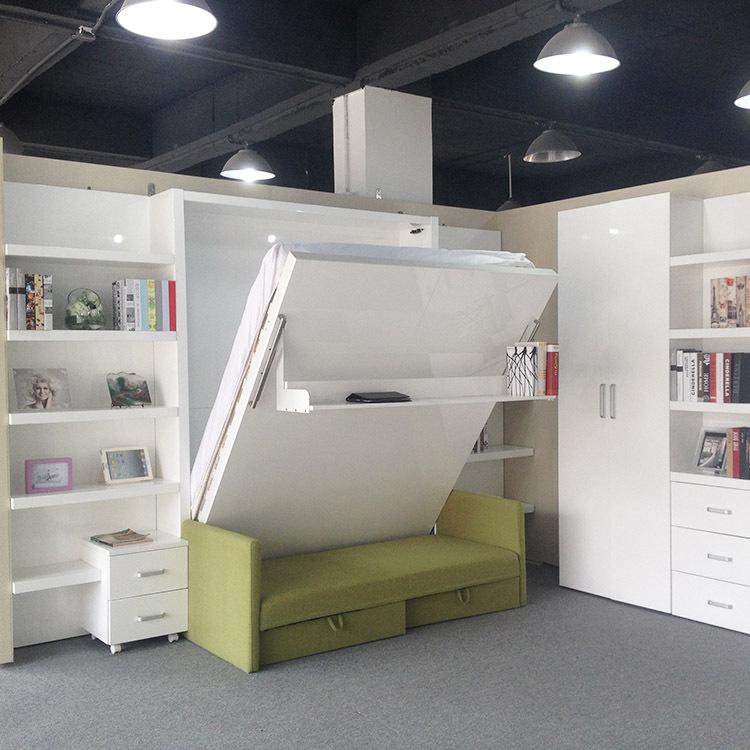 falten klappbett mit sofa wand bett verborgen wand bett murphy bett klappbett bett produkt id. Black Bedroom Furniture Sets. Home Design Ideas