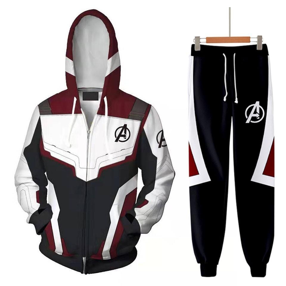 Avengers Endgame Quantum Realm Sweatshirt Jacket Advanced Tech Hoodie Cosplay Costumes superhero T Shirts Iron Man Hoodies Pant - AliExpress - 웹