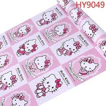 Hello Kitty розовые синие обои 3d милый мультяшный кот дети девочка кровать комната гостиная спальня домашнее украшение(Китай)