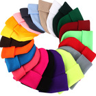 High Quality Winter Plain Dyed Custom Beanie Hat 100% Acrylic Warm Knitted Beanie