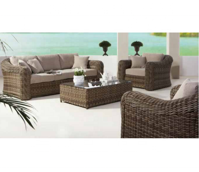 Высококачественная французская мебель из ротанга, высококачественный диван с откидывающейся спинкой