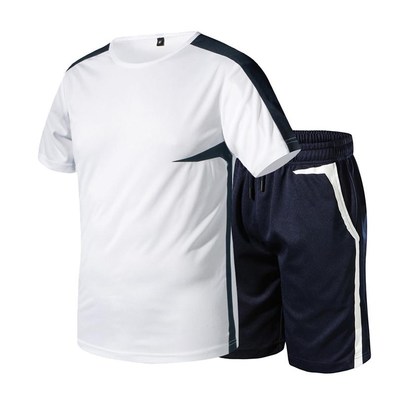 Новый модный спортивный костюм и футболка, комплект для мужчин s футболка шорты + мужские шорты летний спортивный костюм мужские повседневн...(Китай)