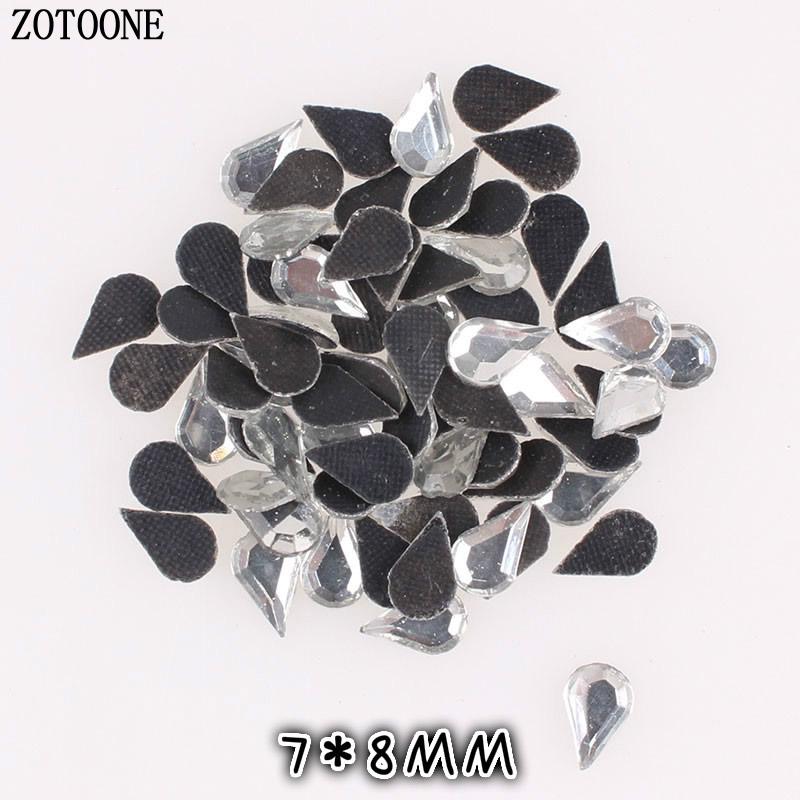 ece0e79e85 ZOTOONE 100PCS DIY fashion Rhinestones Crystal Hot Fix FlatBack Strass  Sewing & Fabric Garment Iron On Rhinestone Nail Art Stone