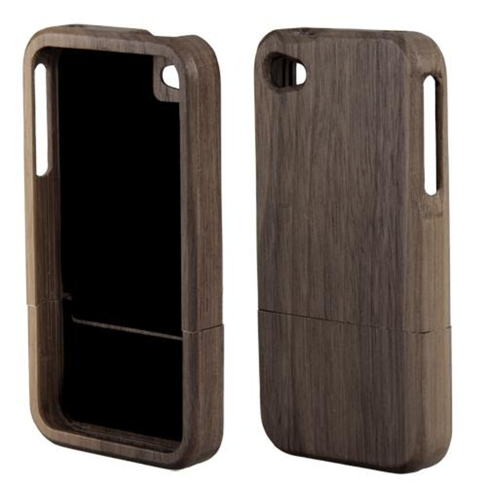 bamboo wood wooden hard shell case cover dark brown for iphone 4 4s in phone bags cases from. Black Bedroom Furniture Sets. Home Design Ideas