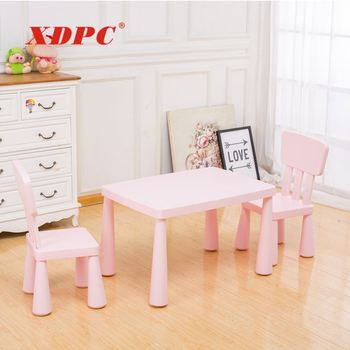 China wholesale children bedroom plastic furniture set small kids modern chairs and table