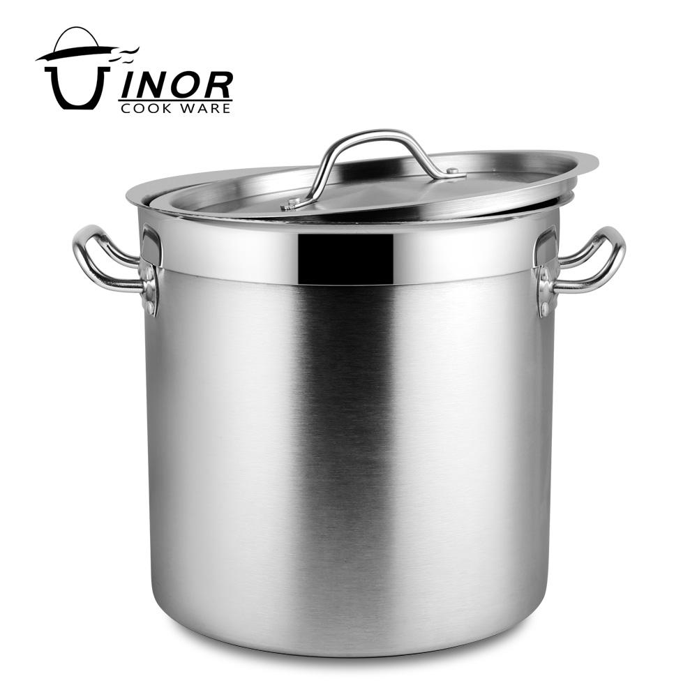 30 liter large stainless steel stock pot set