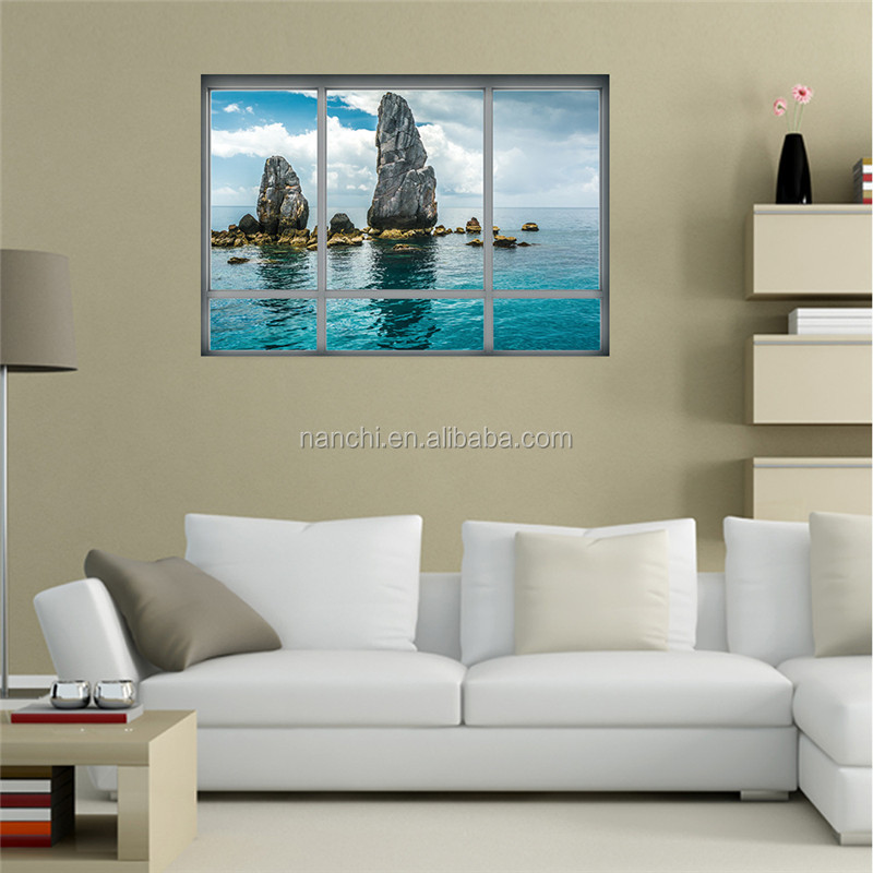 Creative 3d Thailand Scenery The Rocks Stickers Removable Waterproof Wall Stickers Deceration Bedroom Living Room Wall Mural Buy 3d Thailand Scenery The Rocks Stickers Wall Decoration Sticker Diy Removable Waterproof Decal Product On