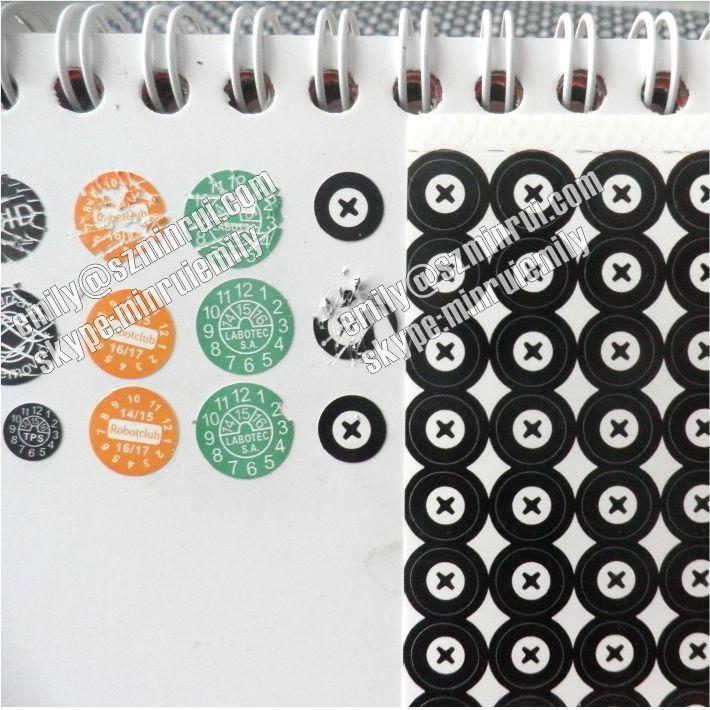 Custom Tamper Proof Screw Stickers Warranty Seal Sticker
