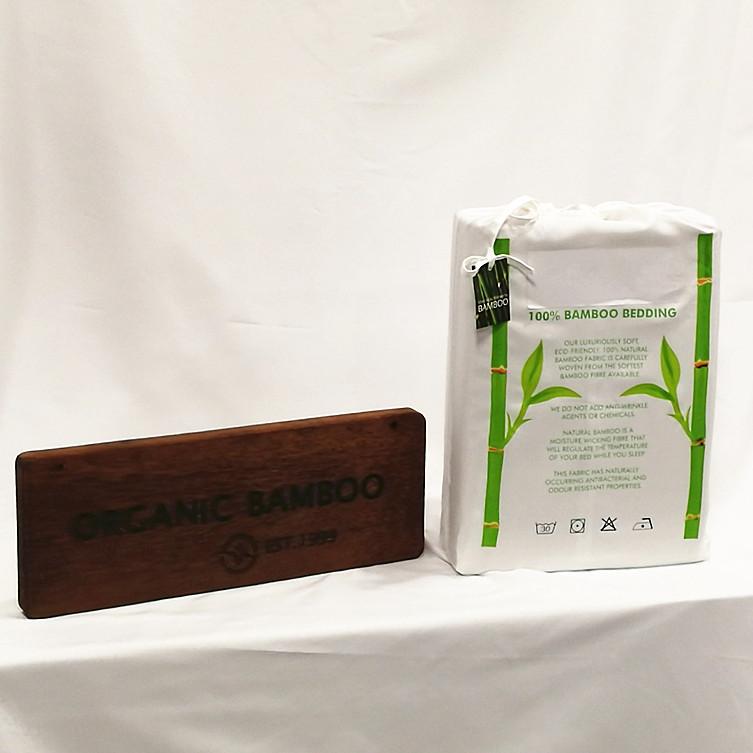 Высококачественные шелковистые простыни 300 TC королевского размера из белого бамбука