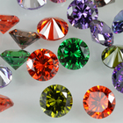 Cubic Zirconia Provence Gemstone Synthetic 3mm Round Shape Cubic Zirconia 30 Colors CZ Stones Wholesale Price