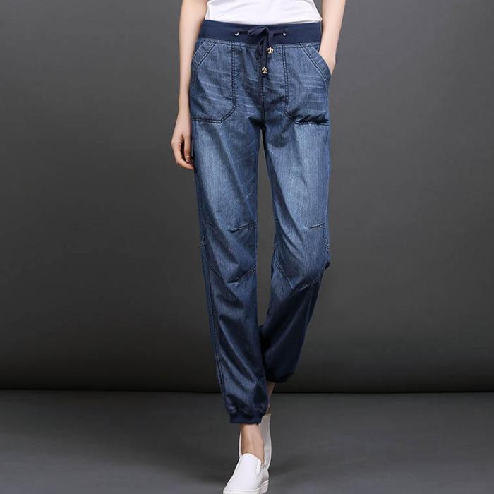 Pantalones Vaqueros De Algodon Para Mujer Pantalon Vaquero Azul A La Moda Para Verano Buy Pantalones Vaqueros Modernos Para Mujer Pantalones Harem De Algodon Para Mujer Pantalones Harem Para Ninas Product On Alibaba Com