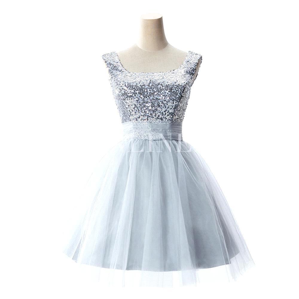 Pastel short wedding dress