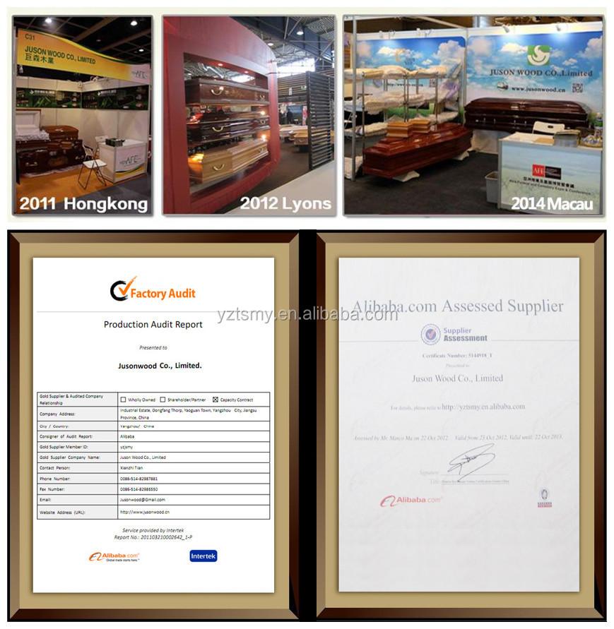JS-A2599 selected beautiful velvet interior funeral wooden casket